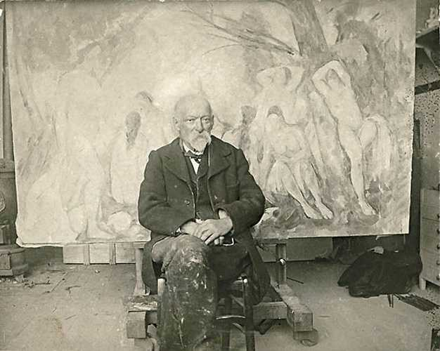 Sennelier and Paul Cézanne''s palette emilbernardpaulcezanneinhisstudioatleslauves1904