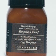 egg tempera binding medium