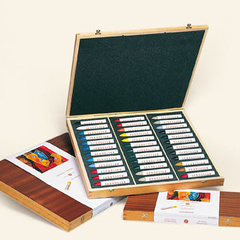 oil pastels - wooden sets